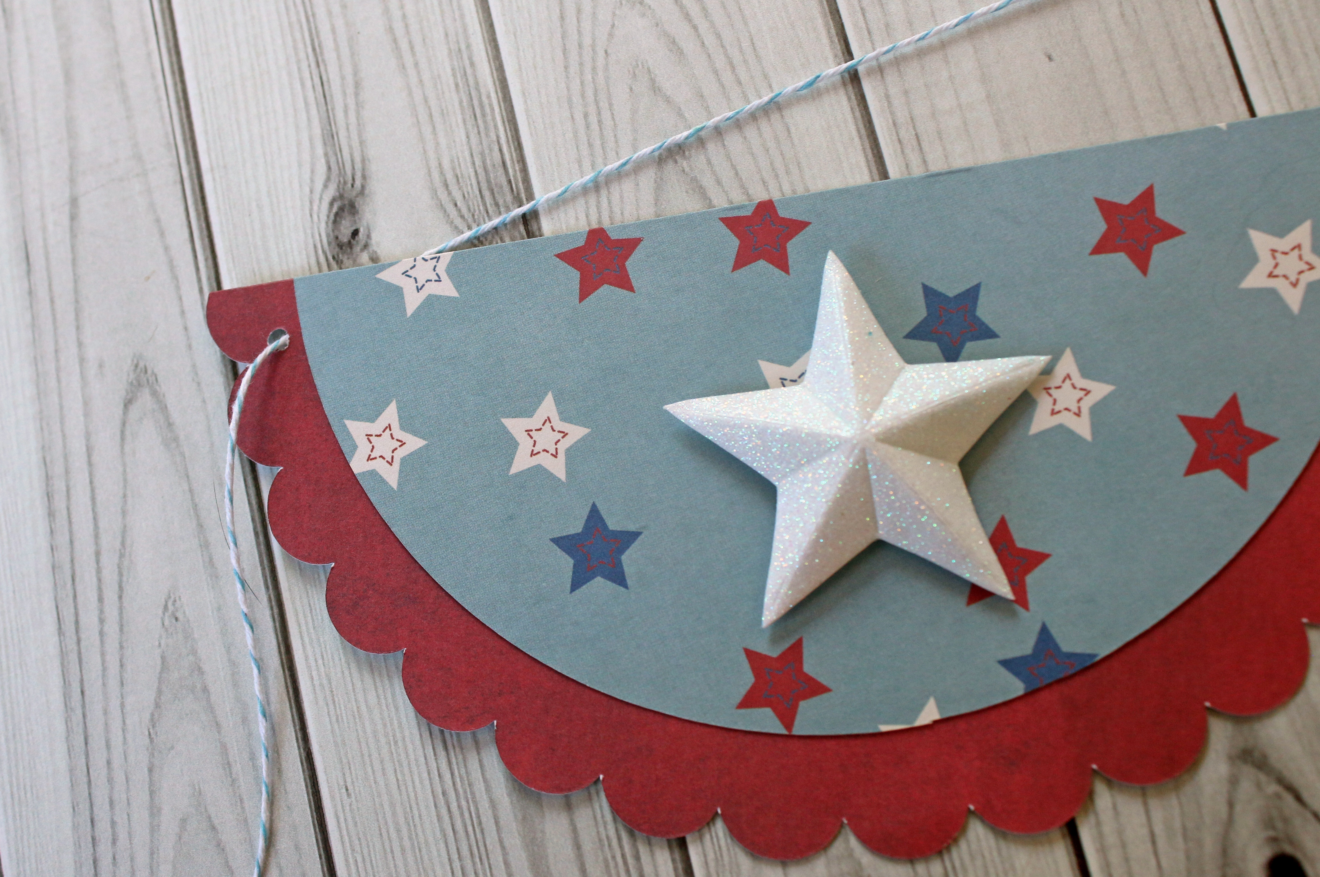4th of July Bunting Banner-Step 4