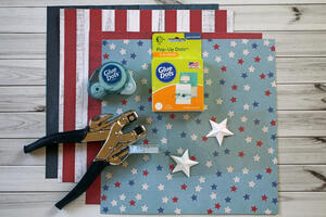 4th of July Bunting Banner-Supplies