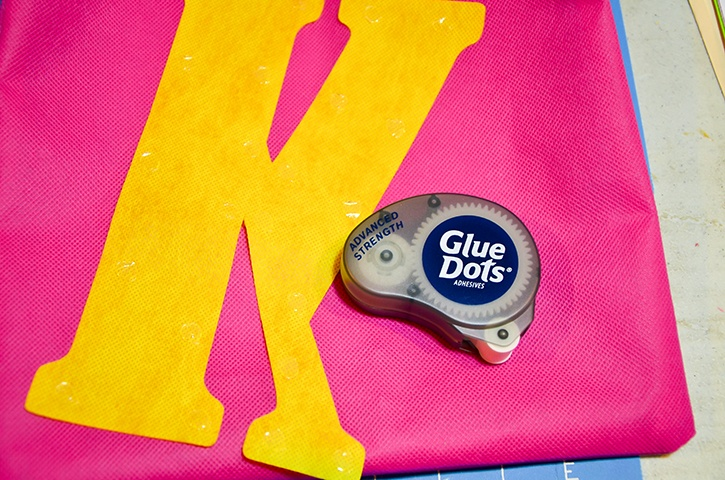 monogrammed-birthday-bags-adding-monogram-advanced-strength-glue-dots.jpg