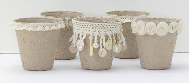permanent-glue-dots-rustic-wedding-succulent-centerpieces-ribbon-around-pots.jpg