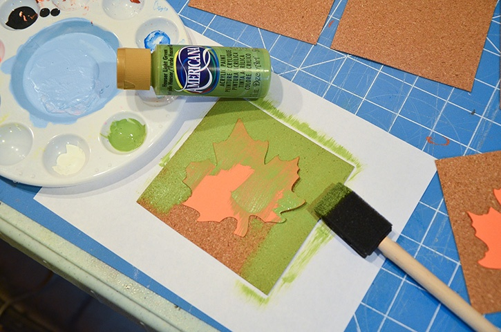 glue-dots-fall-coasters-painting-cork-sheets-over-leaf-stencils.jpg