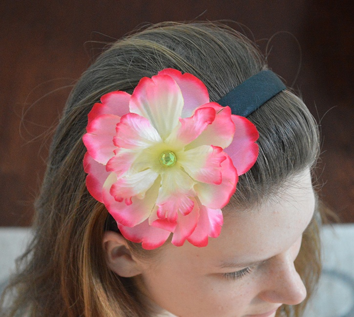 Decorative headbands finished flower dm
