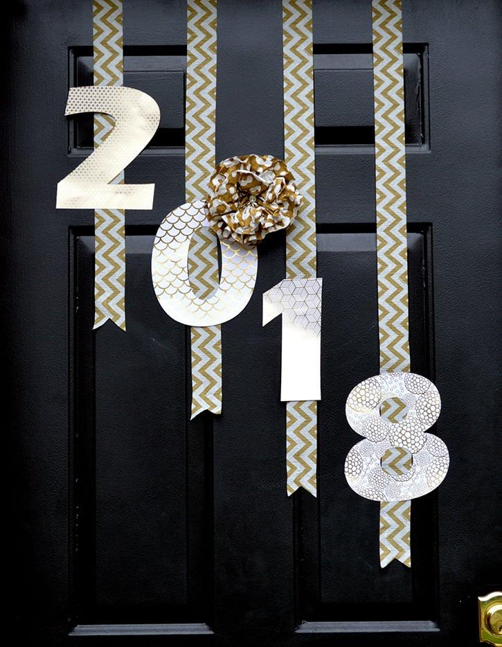 Glue-Dots-New-Years-Door-Decor-2018