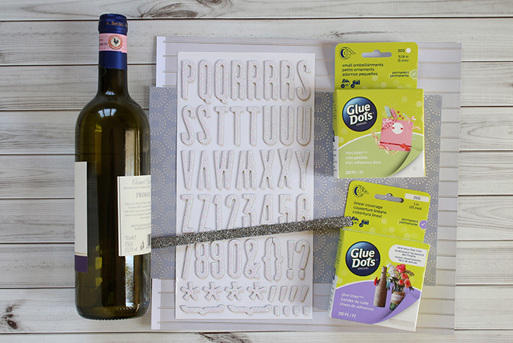 Glue-Dots-New-Years-Eve-Hostess-Gift-supplies
