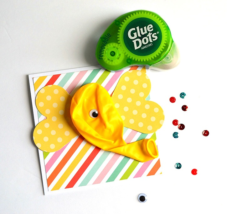 Elephant card balloon-W_Removable