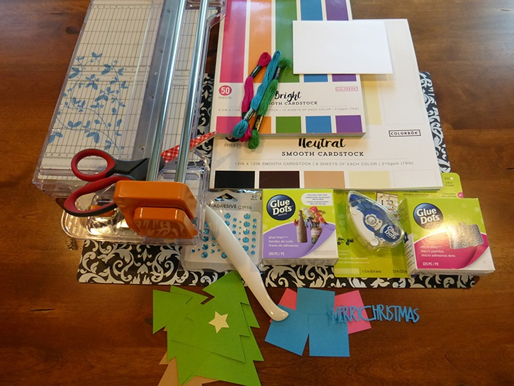 Glue-Dots-Christmas-Tree-card-supplies