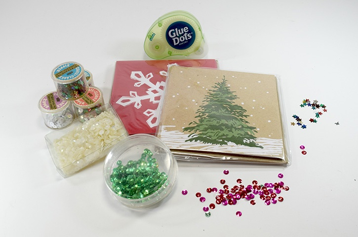 Glue-Dots-christmas-card-hack-supplies