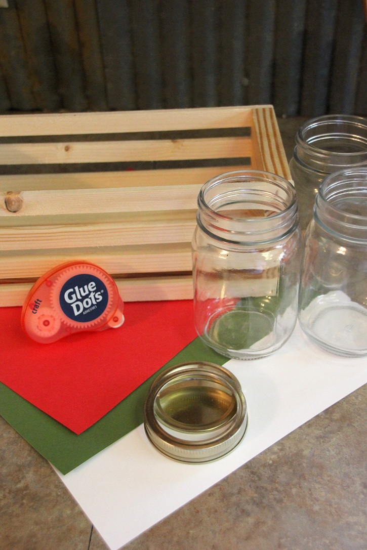 Glue-Dots-Christmas-crate-supplies