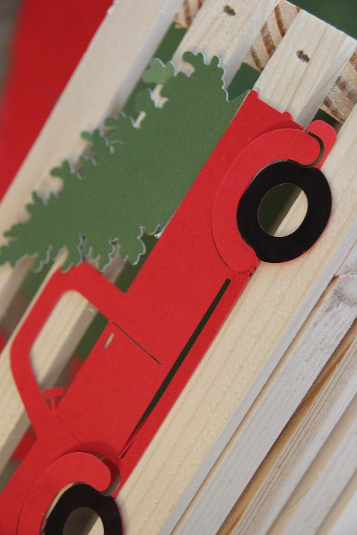 Glue-Dots-Christmas-crate-truck-attached