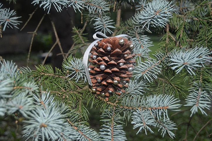Glue-Dots-Pinecone-Ornament-finished