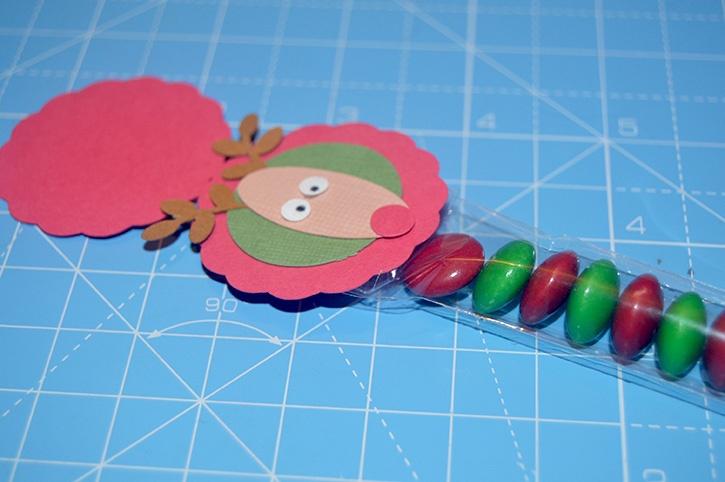 Glue-Dots-Reindeer-Candy-Topper-attach