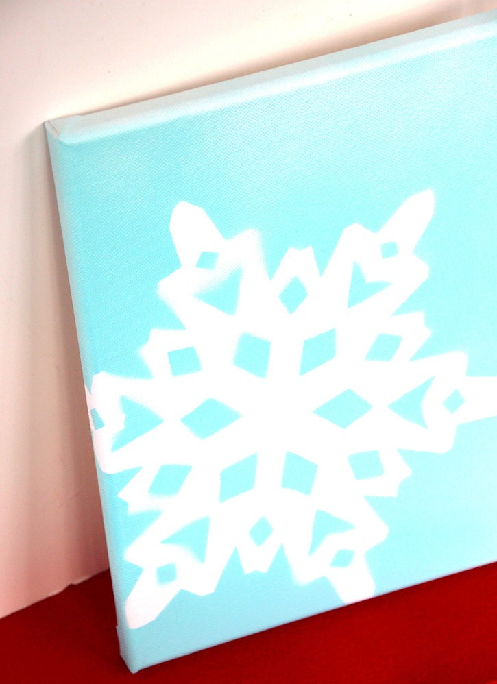 Glue-Dots-Snowflake-Canvas-finished