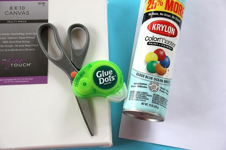 Glue-Dots-Snowflake-Canvas-supplies