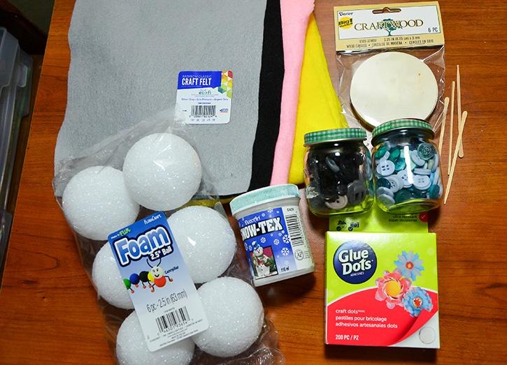 Glue-Dots-Styrofoam-Snowman-Supplies
