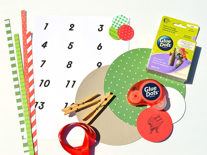 country-chic-count-down-to-christmas-calendar-glue-dots-supplies