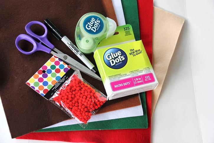 Glue Dots Felt Finger Puppet Supplies