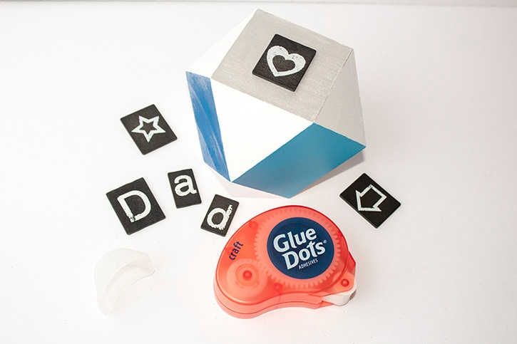 Dad_paperweight_gift_craft glue dots step copy