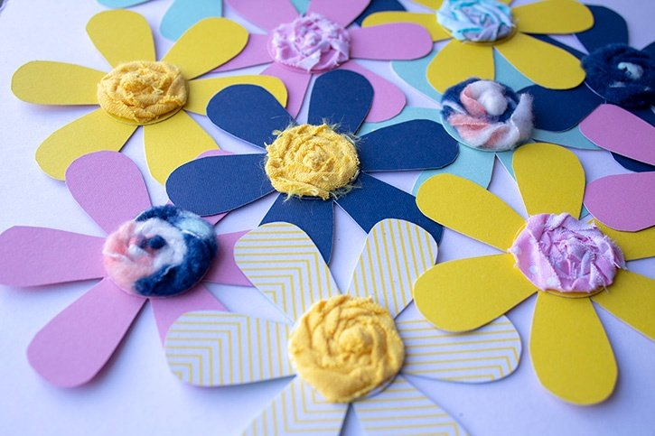 Hanging Flowers Kids Craft finished close-up (2) copy