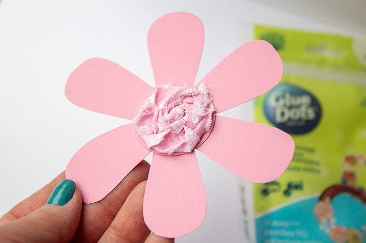 Hanging Flowers Kids Craft xl glue dots step 6 copy