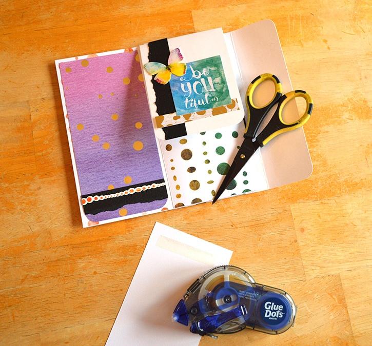 Glue-Dots-Paper-House-Pocket-Journal-gluetape