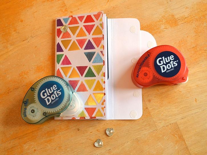 Glue-Dots-Paper-House-Pocket-Journal-repositionable-dots