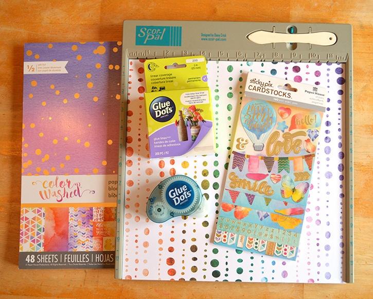 Glue-Dots-Paper-House-Pocket-Journal-supplies