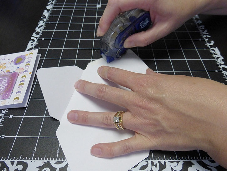 Glue-Dots-Paper-House-Treat-Box-assemble