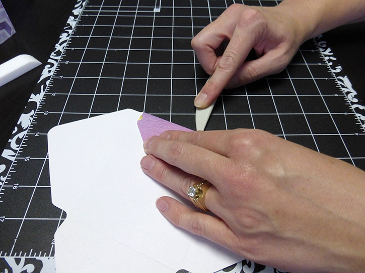 Glue-Dots-Paper-House-Treat-Box-fold