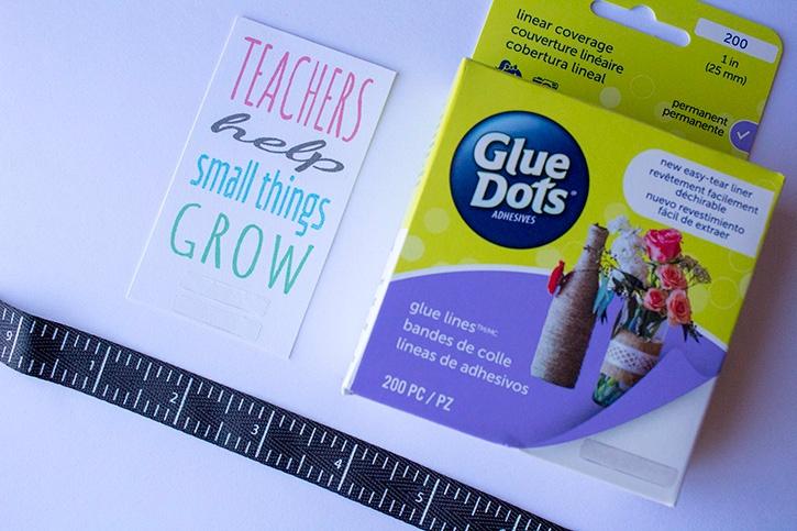Teachers Help Small Things Grow glue lines step (1)