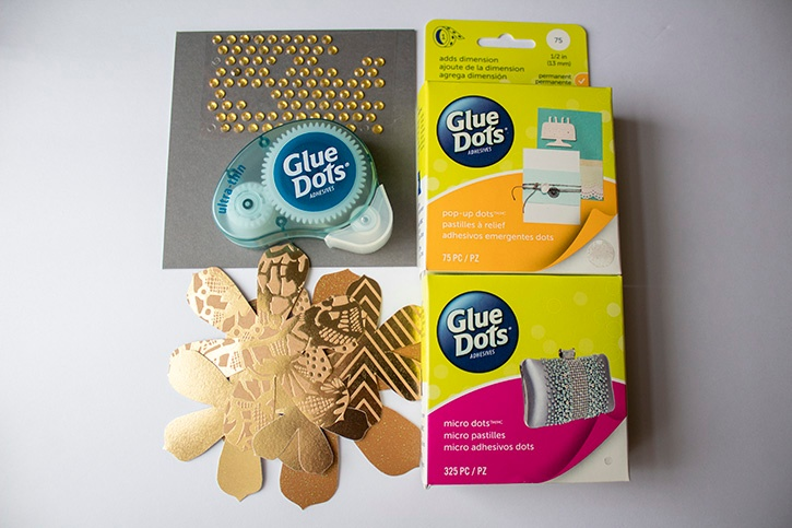 3D Gold Floral Wedding Card supplies