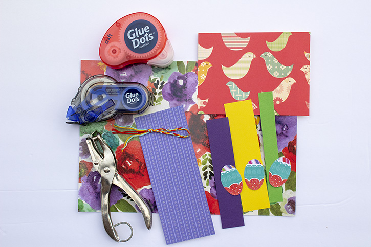 Glue-Dots-Easter-Bookmark-Card-supplies