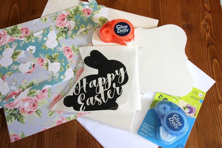 Glue-Dots-Floral-Bunny-supplies