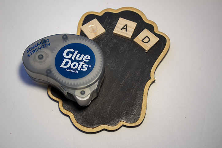 Glue-Dots-Chalkboard-Gift-attach