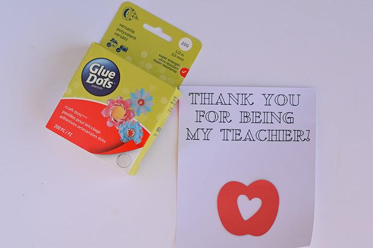 Glue-Dots-colorable-card-apple