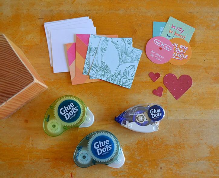 Glue-Dots-Mantra-Cube-supplies