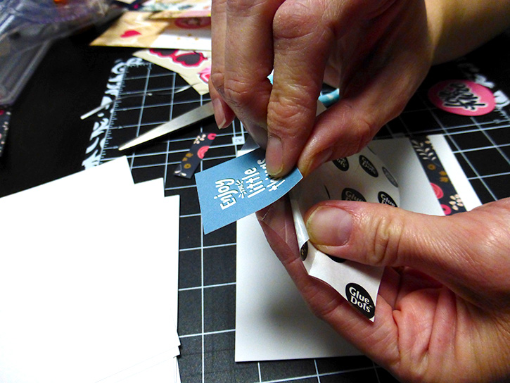 Glue-Dots-Websters-Pages-DIY-Notebook-sheets