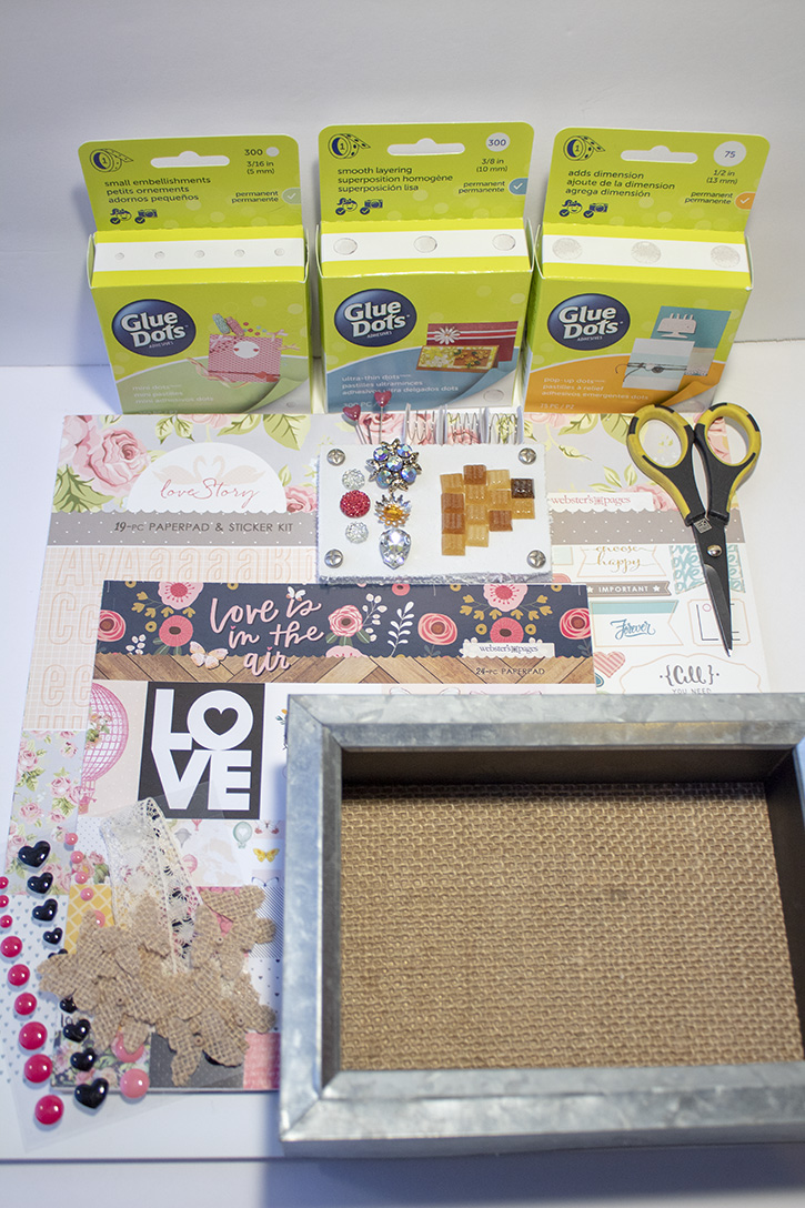 Glue-Dots-Websters-Pages-Shadow-Box-supplies
