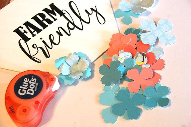Glue-Dots-Craft-Cuts-Chicken-flowers2