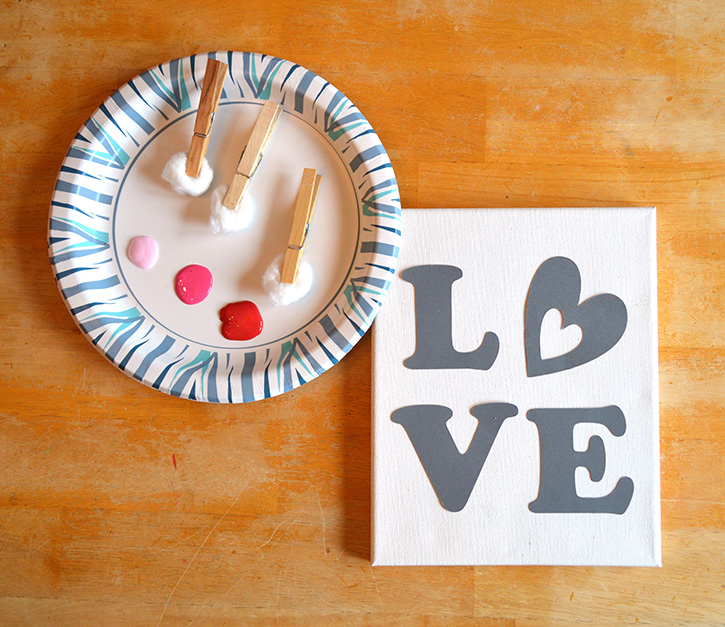 Glue-Dots-LOVE-canvas-prep