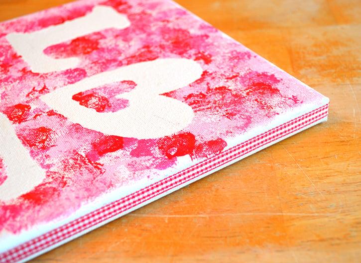 Glue-Dots-LOVE-canvas-ribbon