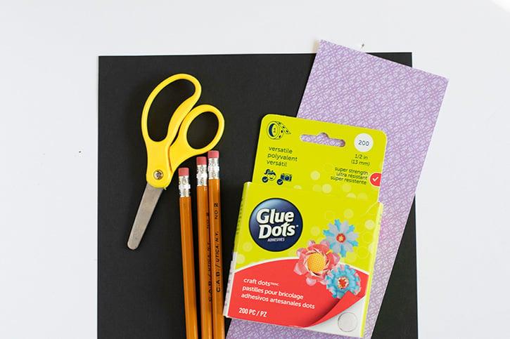 Glue-Dots-Pencil-Arrow-supplies
