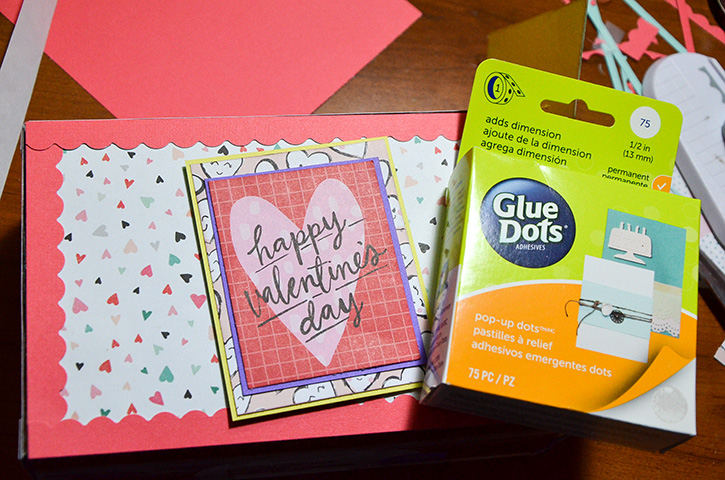 Glue-Dots-valentines-treat-box-pop-up