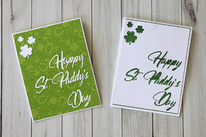 Die Cut St. Paddys Day Cards. Paddys Day Card-006