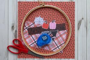 Halloween Embroidery Hoop Decor