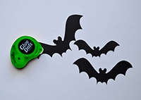 Make your own Bat Lamp Halloween Decoration with Removable Glue Dots from Amazon.