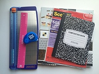 Back-to-School Tip: Personalize your school notebooks for each class and add pockets to make it more functional. Brought to you by Glue Dots.