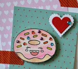 Donut Valentine Detail