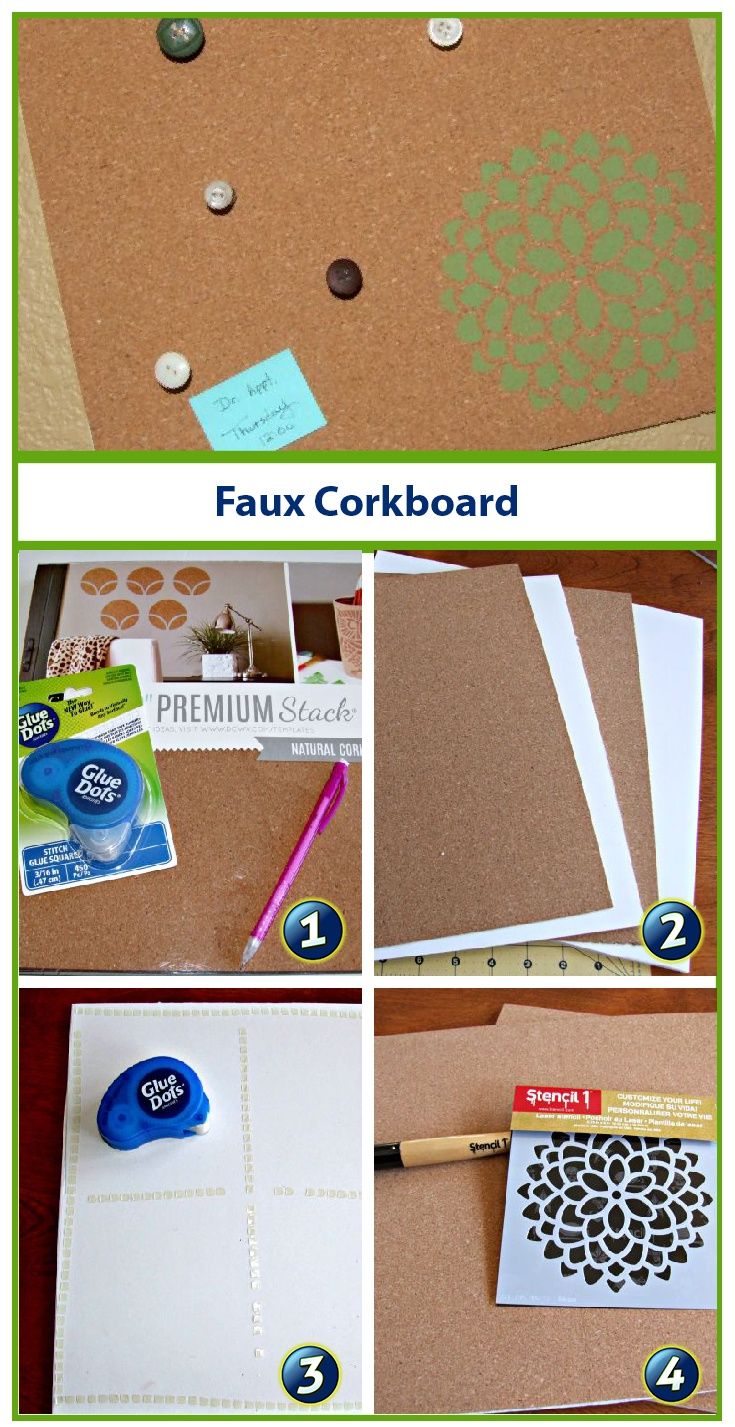 Re-Organize & Re-Decorate with Cork Board and #GlueDots