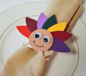 Thanksgiving Day Kids Napkin Ring