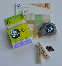Make clothes pin photo clips for your school locker with Glue Dots and embellishments.